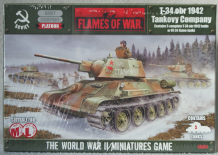 Flames of War 15mm SBX01 Russian T-34 obr 1942 Tankovy Company